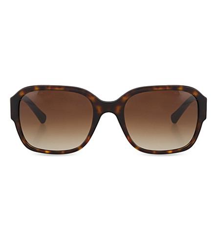 GIORGIO ARMANI Havana square sunglasses (Havana