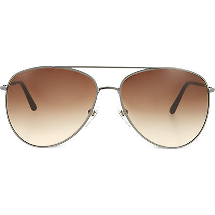 BURBERRY BE3072 aviator sunglasses (Gunmetal