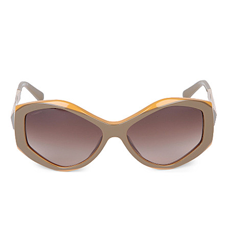 BURBERRY BE4133 Irregular sunglasses (Khaki+top+mustard