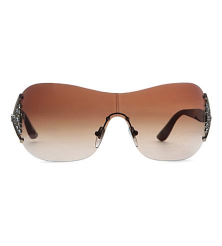 BVLGARI Embellished square sunglasses (Pale+gold