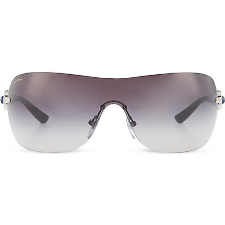 BVLGARI Black cat-eye sunglasses (Silver