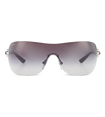 BVLGARI Wrap around sunglasses (Silver