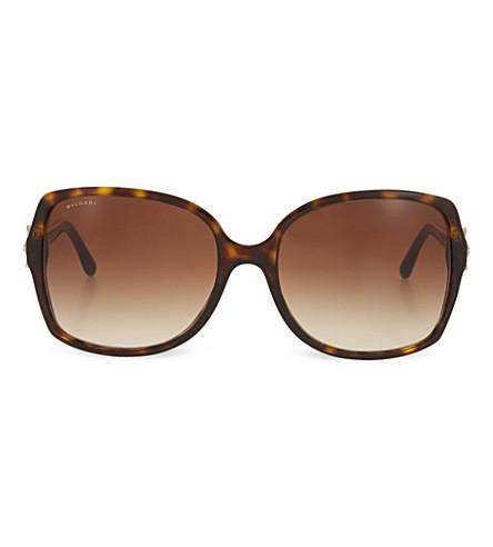 BVLGARI Dark Havana square sunglasses (Dark+havana