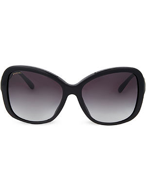 BVLGARI Bvlgari black square sunglasses