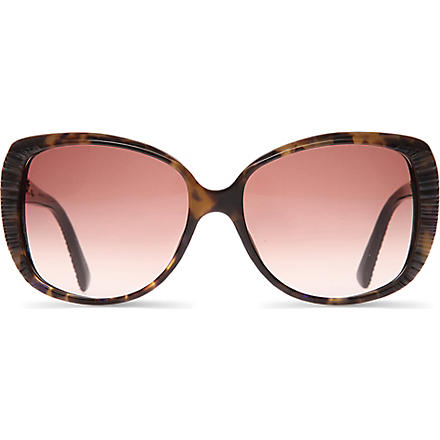 DIOR DIORTAFFETAS2 Oversized tortoisheshell ridged sunglasses (Brown