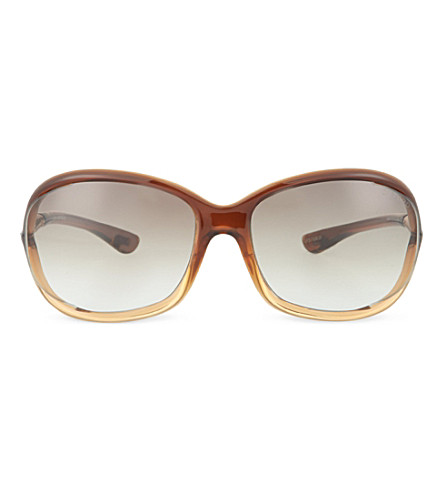 TOM FORD FT008 Jennifer oversized sunglasses (Light+brown