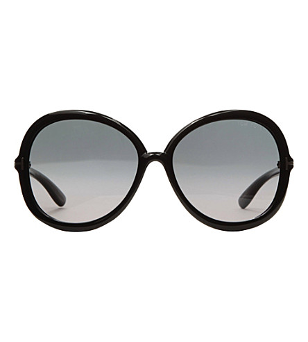 TOM FORD Round-frame sunglasses (Black