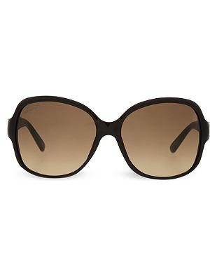 GUCCI Black round sunglasses