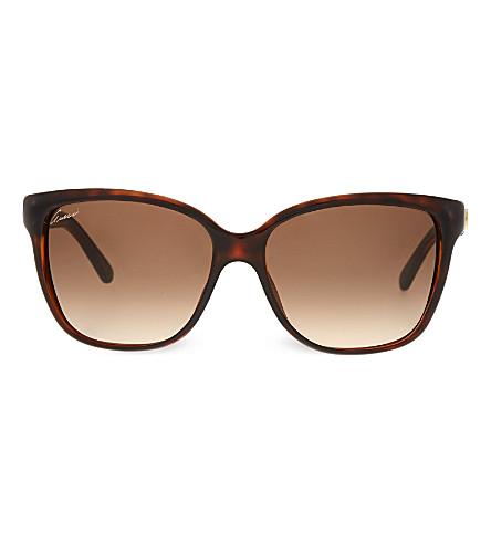 GUCCI Tortoiseshell square sunglasses (Tortoise