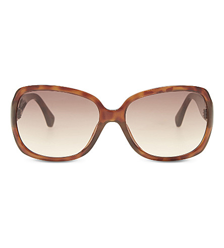 MICHAEL KORS M2890s Angela tortoiseshell square-frame sunglasses (Brown