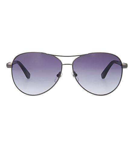 MICHAEL KORS Claire gunmetal aviator sunglasses (Gunmetal