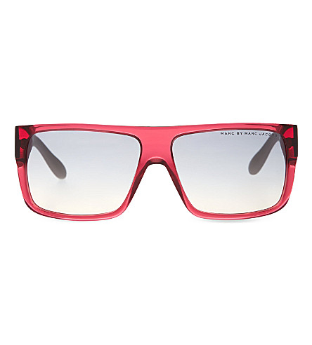 MARC JACOBS Rectangle sunglasses (Purple+grey
