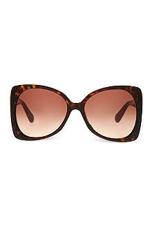 MARC JACOBS Tortoise shell oversized sunglasses