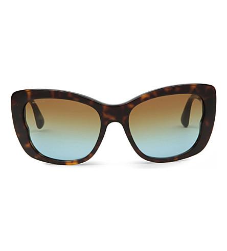 MIU MIU Havana butterfly sunglasses MU03O (Havana