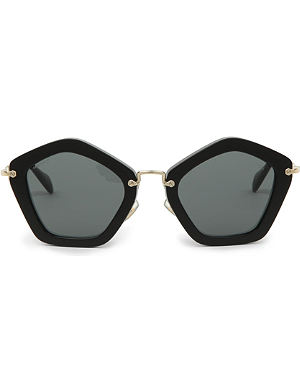 MIU MIU Pentagonal-shaped acetate sunglasses MU06OS