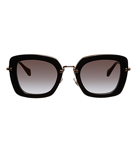 MIU MIU Square-frame sunglasses (Top+black/opal