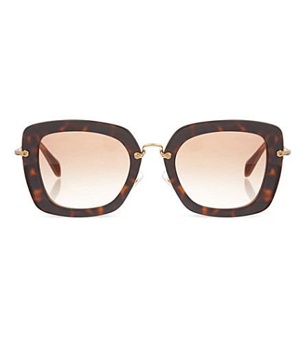 MIU MIU Havana Opal sunglasses MU070S (Top+havana+on+opal