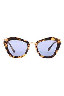 MIU MIU Havana cat-eye sunglasses MU10NS