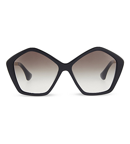 MIU MIU SMU 11N Culte irregular sunglasses (Black