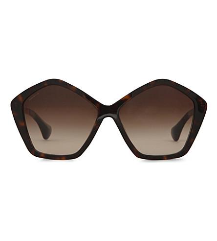 MIU MIU MU11NS Havana octagonal sunglasses (Havana