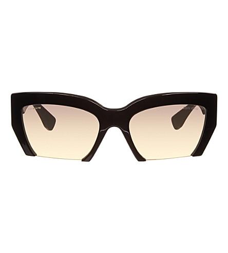MIU MIU Cat-eye cut-out sunglasses (Black