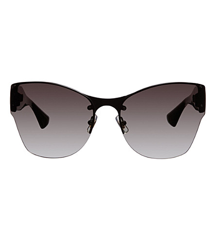 MIU MIU Irregular rimless sunglasses (Black