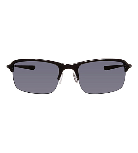 OAKLEY Polished rectangle sunglasses (Polished+black