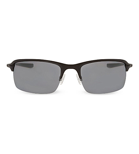 OAKLEY Black wiretap half-frame sunglasses OO4071 (Black