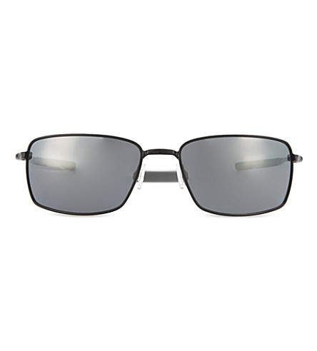 OAKLEY Polished black square-rimmed sunglasses (Polished+black