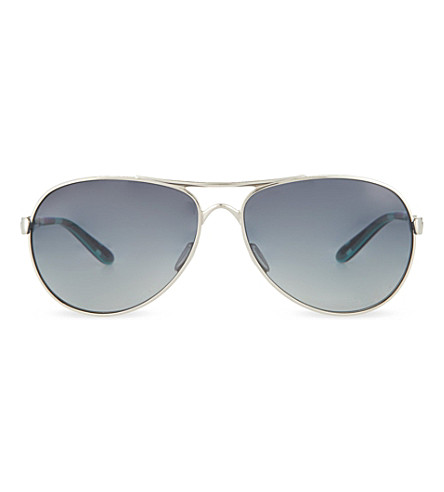 OAKLEY Chrome aviator sunglasses (Polished+chrome