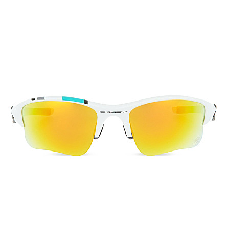 OAKLEY Irregular sunglasses (Polished+white