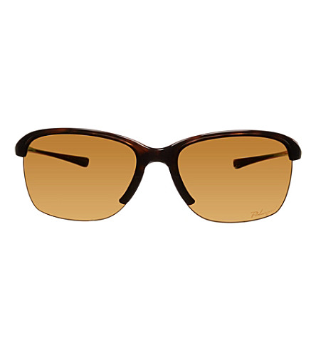 OAKLEY OO9191 Polished rectangle sunglasses (Tortoise