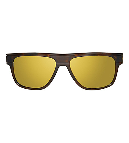 OAKLEY Breadbox Polarized tortoise square sunglasses (Tortoise
