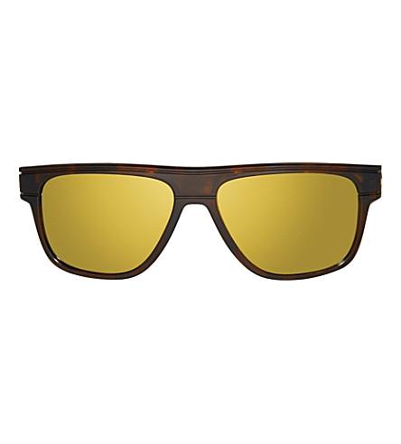OAKLEY Breadbox Polarized tortoise square sunglasses (Tortoise