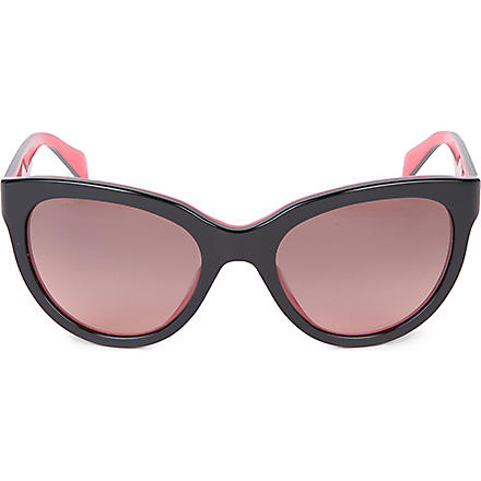 PRADA PR07PS black round sunglasses (Black