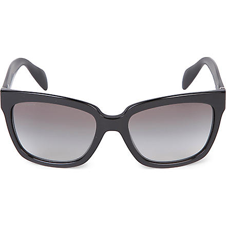 PRADA PR07PS black square sunglasses (Black