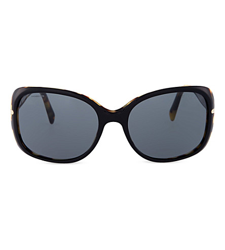PRADA PR08OS Havana rectangle sunglasses (Top+black/medium