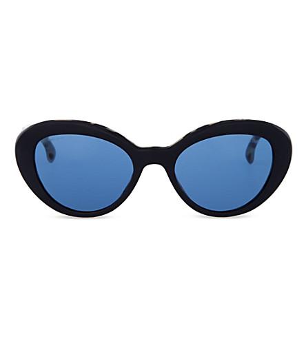 PRADA PR15QS53 Havana oval sunglasses (Black/white