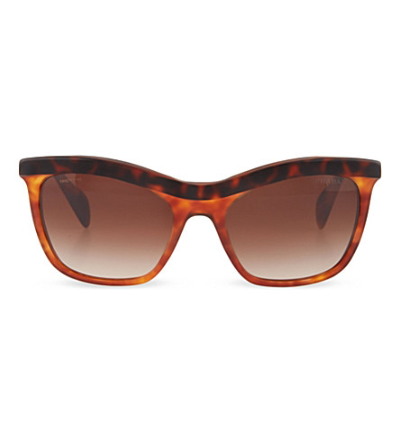 PRADA Havana cat eye sunglasses (Top+havana/light