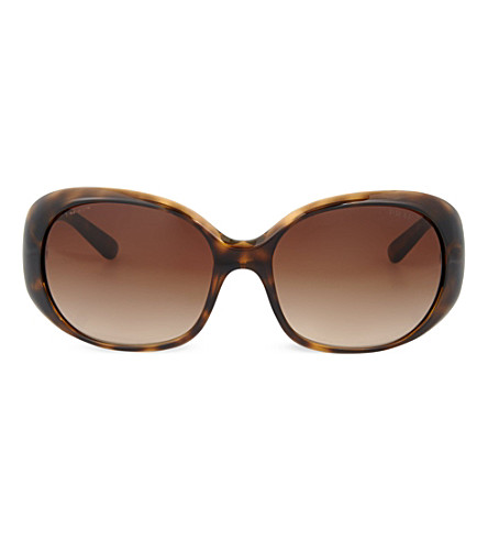 PRADA Havana oval sunglasses PR27LS57 (Havana