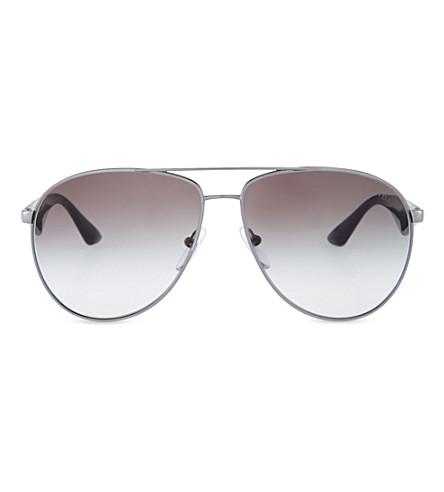 PRADA PR53QS60 Gunmetal pilot sunglasses (Gunmetal
