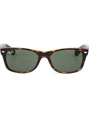 RAY-BAN Tortoiseshell wayfarer sunglasses RB2132 52