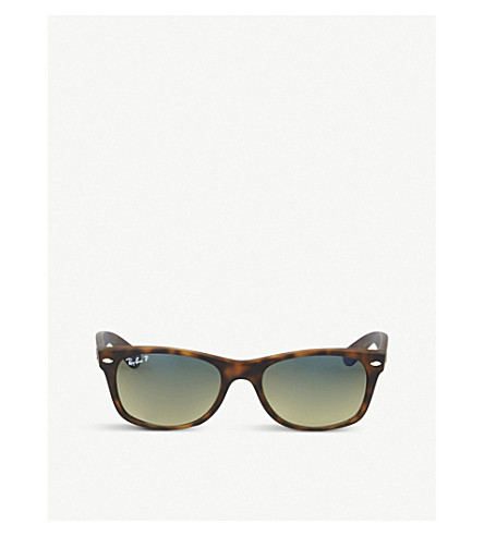 RAY-BAN Tortoiseshell matte finish wayfarer sunglasses RB2132 52 (Matte+havana