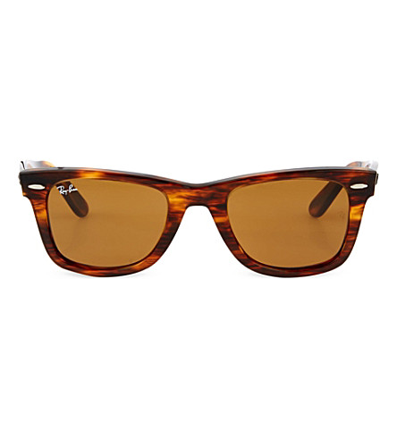 RAY-BAN Matte light tortoiseshell wayfarer sunglasses RB2140 50 (Light+tortoise