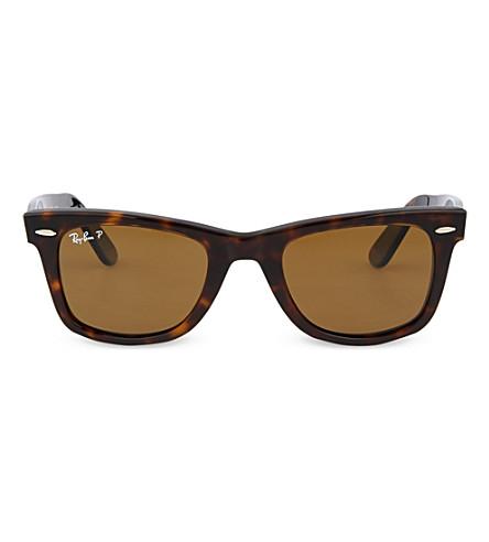 RAY-BAN Tortoiseshell wayfarer sunglasses RB2140 50 (Tortoise