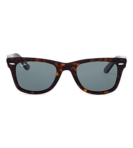 RAY-BAN Unisex tortoise effect wayfarer sunglasses