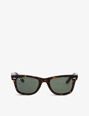 RAY-BAN Tortoiseshell thick frame wayfarer sunglasses RB2140