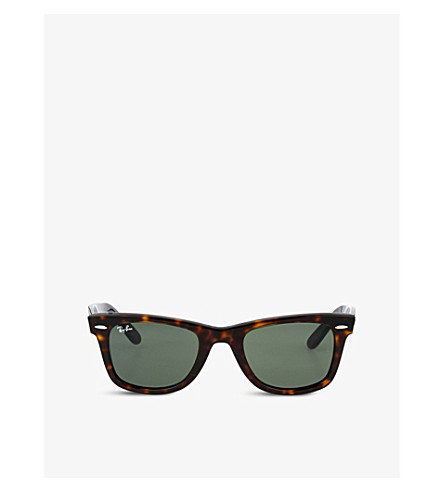 RAY-BAN Tortoiseshell thick frame wayfarer sunglasses RB2140 (Tortoise