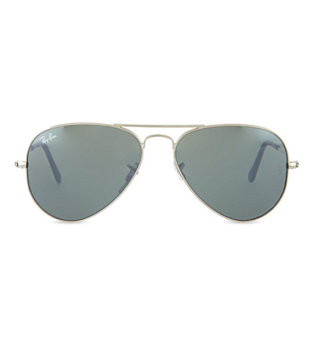 RAY-BAN Original silver aviator sunglasses RB3025 55 (Silver