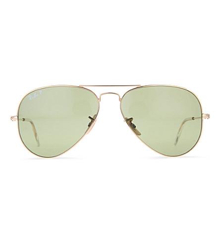 RAY-BAN Aviator polarized sunglasses (Shiny gold